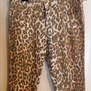 Joe's jeans size 29 wild collection leopard print